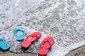 Sandals on the beach