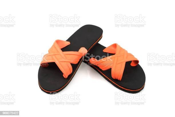 Sandaler Tofflor Isolerad På Vit Bakgrund-foton och fler bilder på Fotografi - Bild