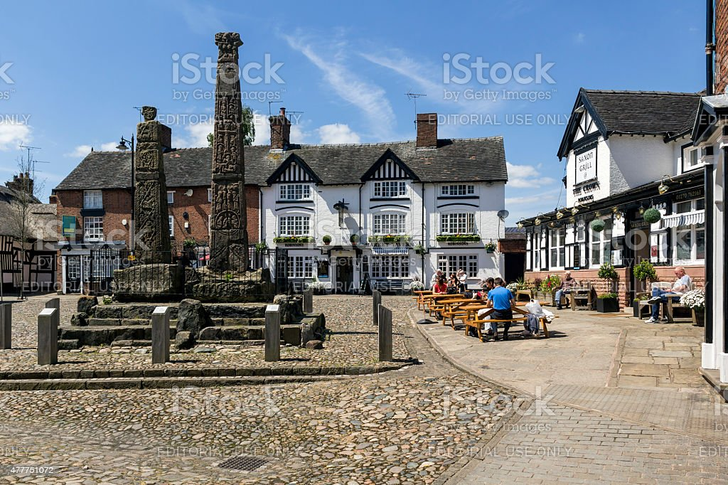 Sandbach Town Square stock photo