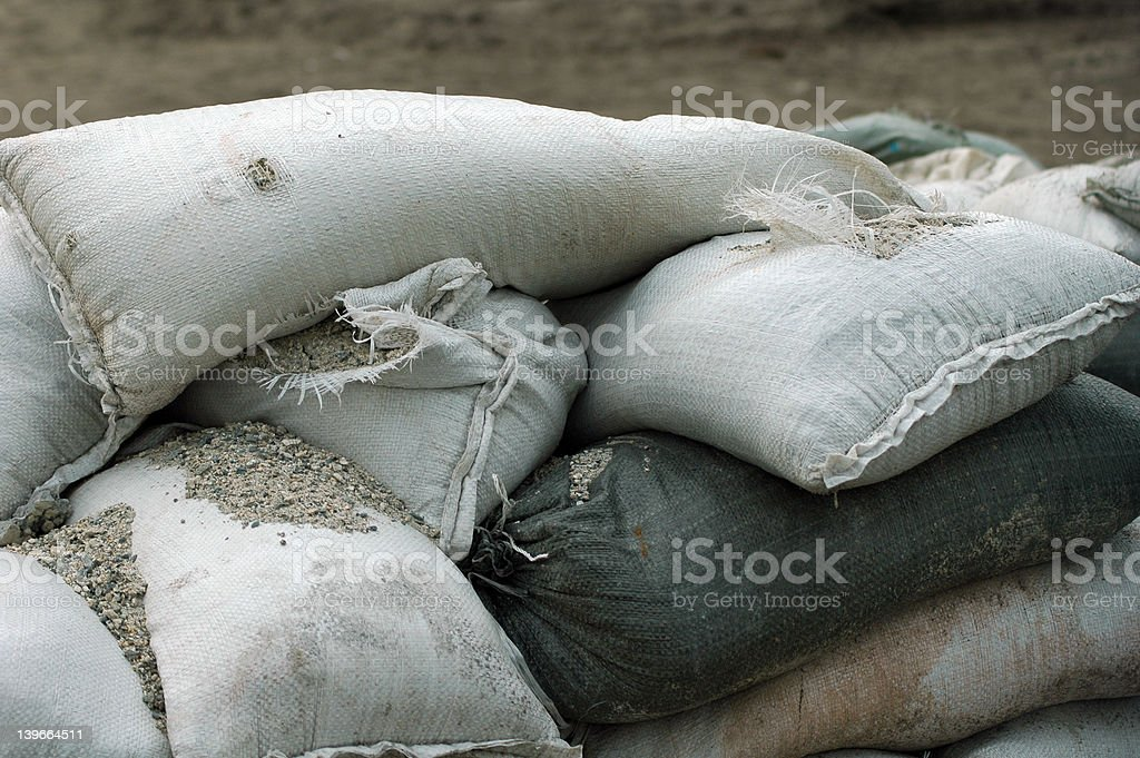 Sandbags 2 stock photo