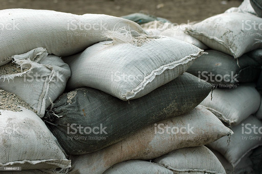 Sandbags 3 stock photo