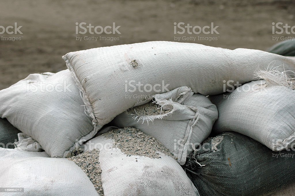 Sandbags stock photo