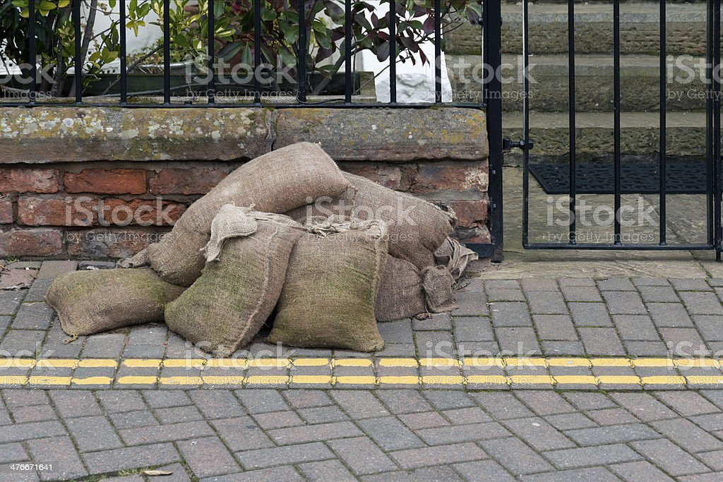 Sandbags royalty-free stock photo