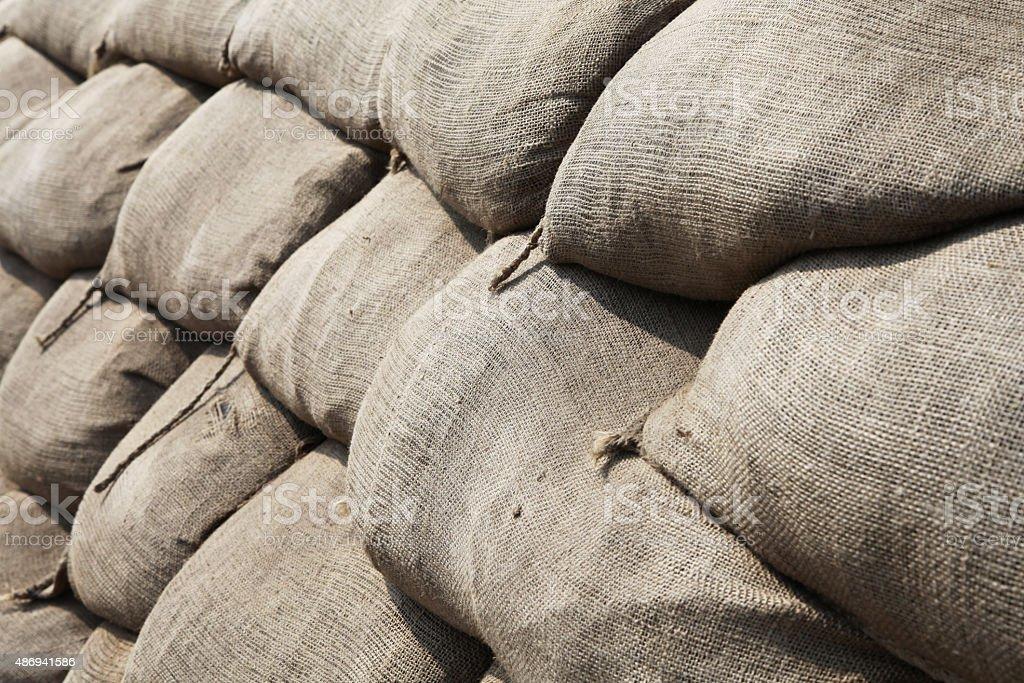 Sandbags stock photo