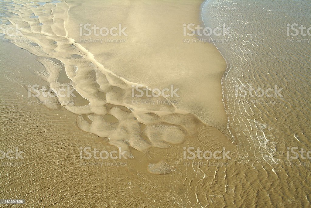 Sandbank in the Humber River royalty-free stock photo
