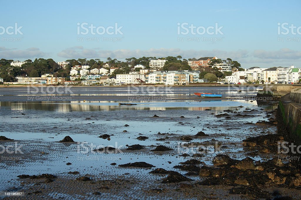 Sandbanks in Poole Dorset England. stock photo