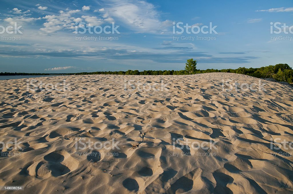sandbanks provincial park stock photo
