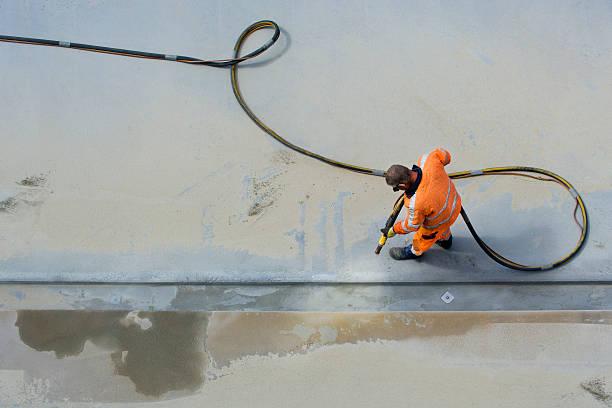 Sandblasting stock photo