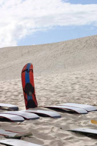 Sandboards and dunes. Florian