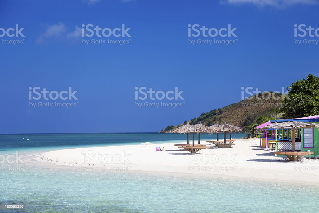 Sandbox Bar & Grill on Prickly Pear Island, BVI stock photo