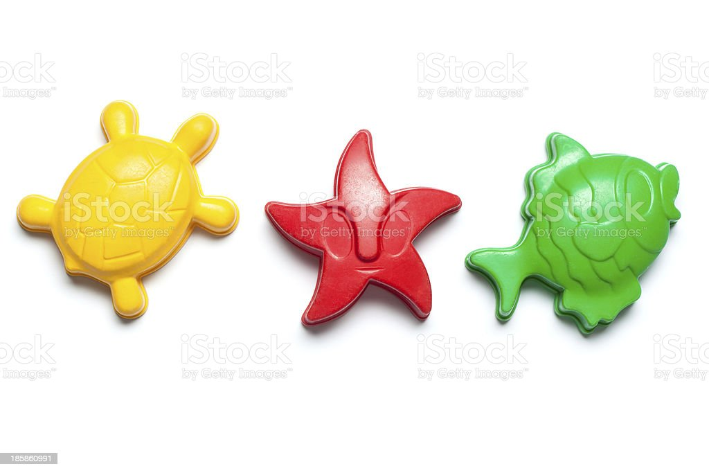 Sandbox toy forms in colors royalty-free stock photo