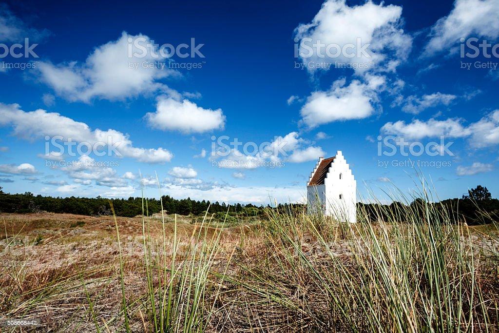 Sand-Buried Church, Skagen, Denmark stock photo