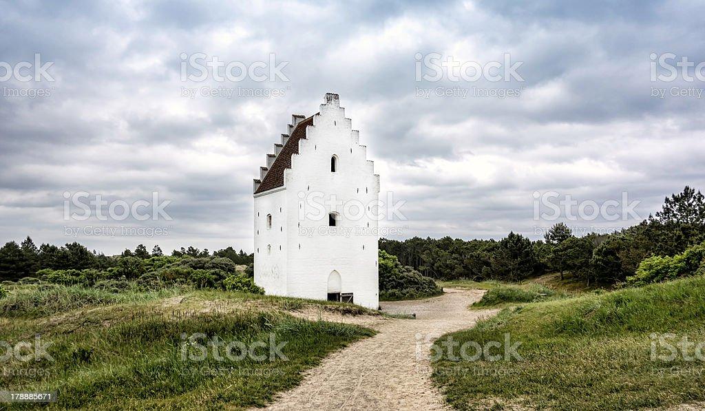 Sand-Buried Church, Skagen, Jutland, Denmark stock photo