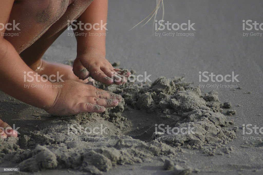 Sandcastle Beginnings royalty-free stock photo