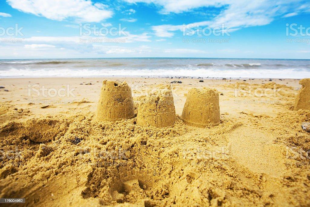Sandcastle On A Beach royalty-free stock photo