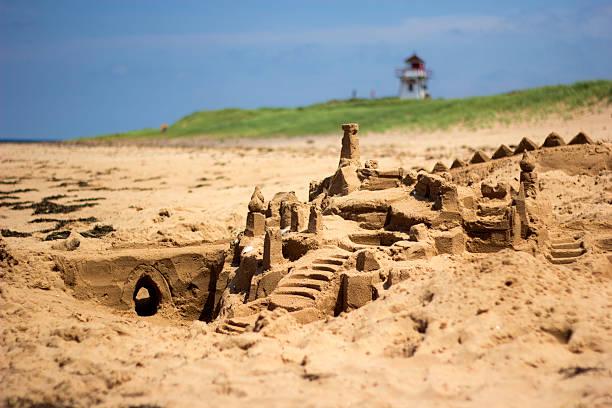 Sandburg am Strand von Prince Edward Island – Foto