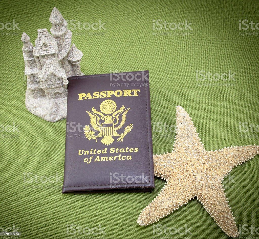 Sandcastle Passport royalty-free stock photo