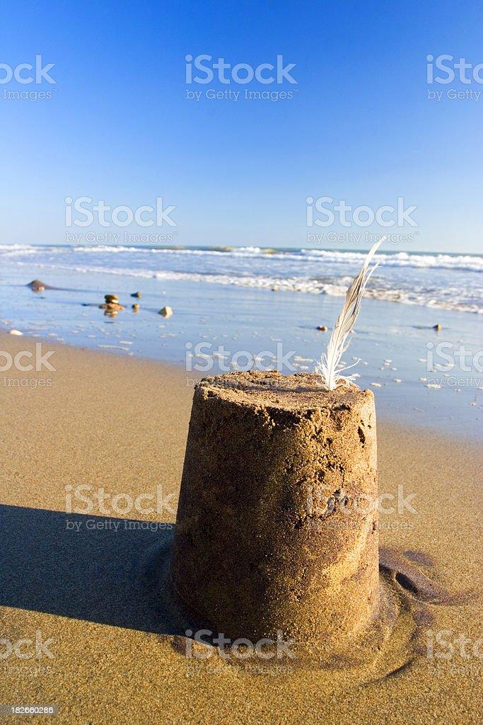 Sandcastle royalty-free stock photo