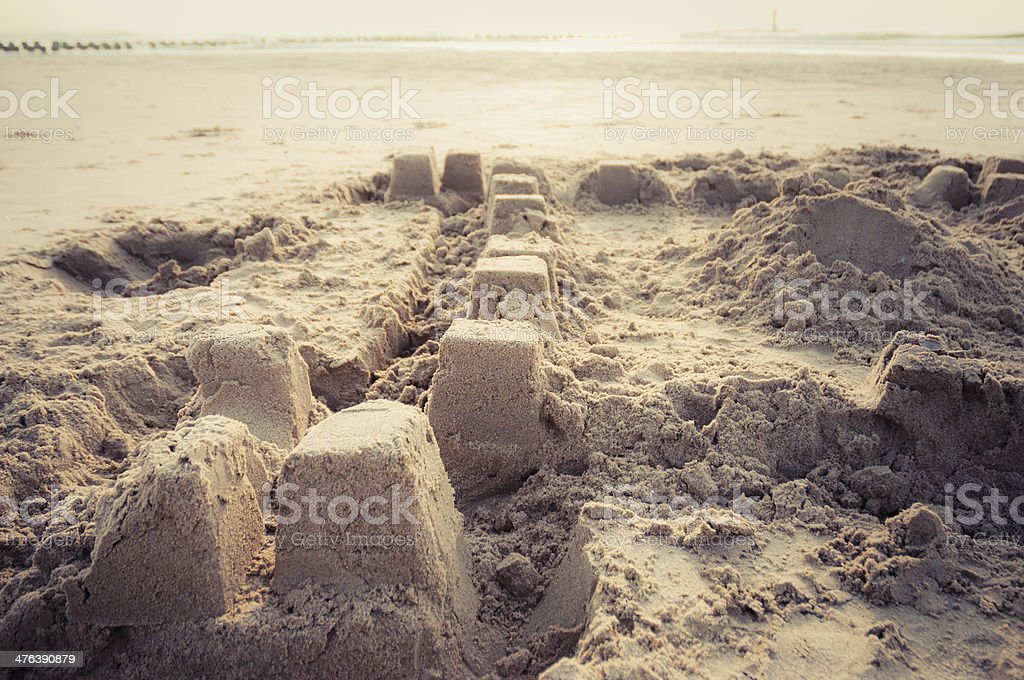 Sandcastle Lizenzfreies stock-foto