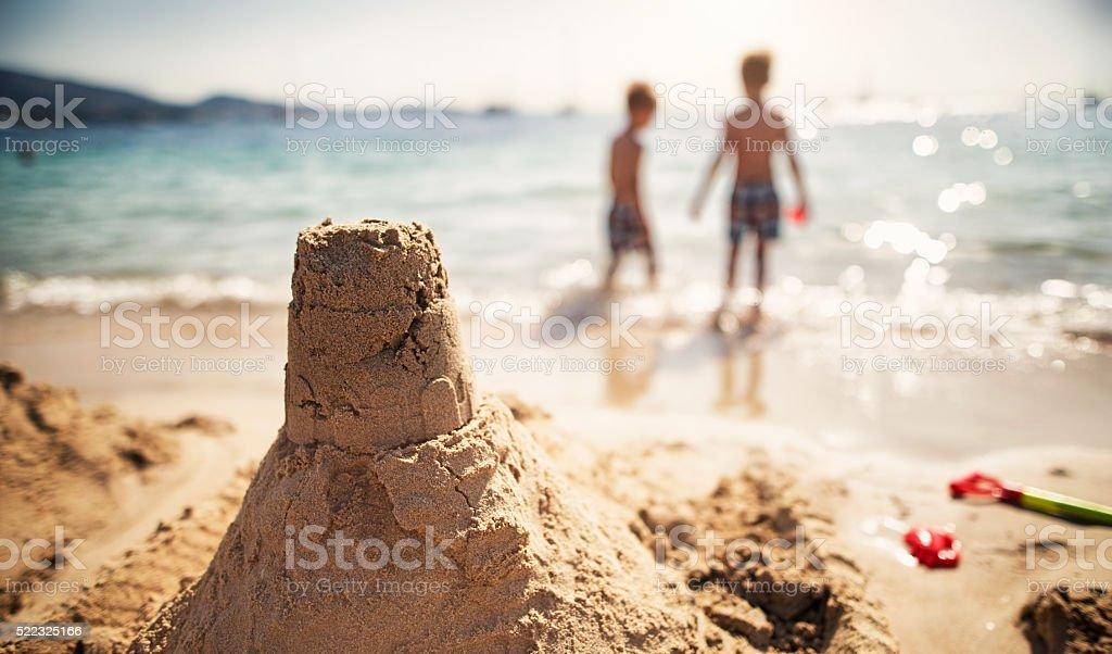 Castello di sabbia - foto stock