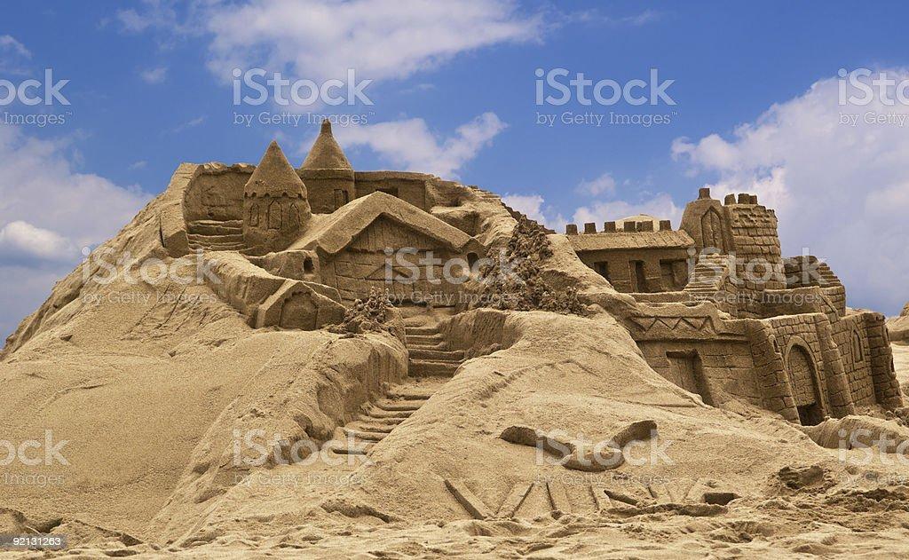 Sandcastle the beach. royalty-free stock photo