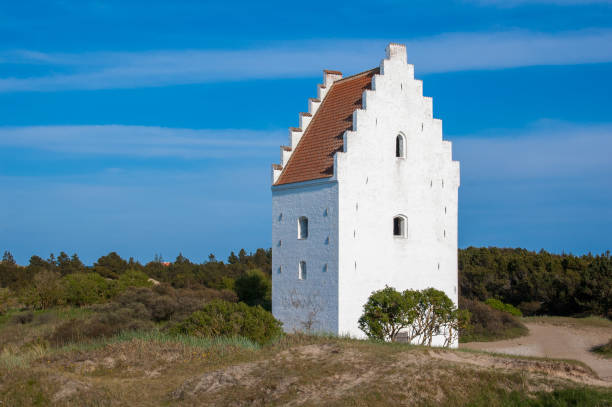 Sand-Covered Church (Den Tilsandende Kirke), Skagen, Denmark stock photo