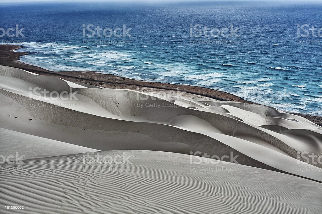 Sand-Dunes Archer at Socotra stock photo