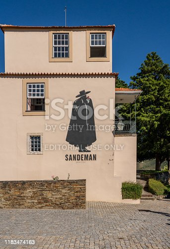 Pinhao, Portugal - 13 August 2019: Quinta do Seixo owned by Sandeman offers port wine tasting tours in their vineyard on Duoro Valley