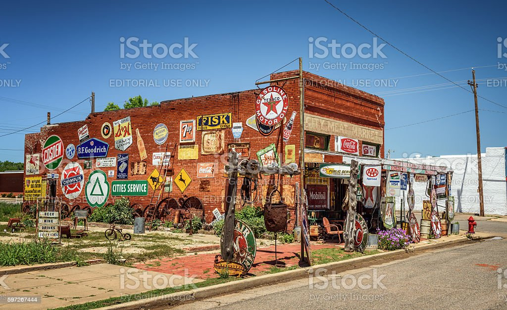 Sandhills Curiosity Shop located in Erick, Oklahoma royalty-free stock photo