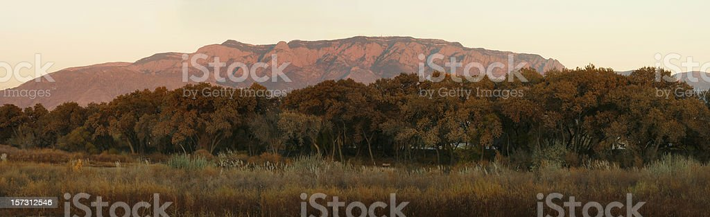 Sandia Mountain Panoramic royalty-free stock photo
