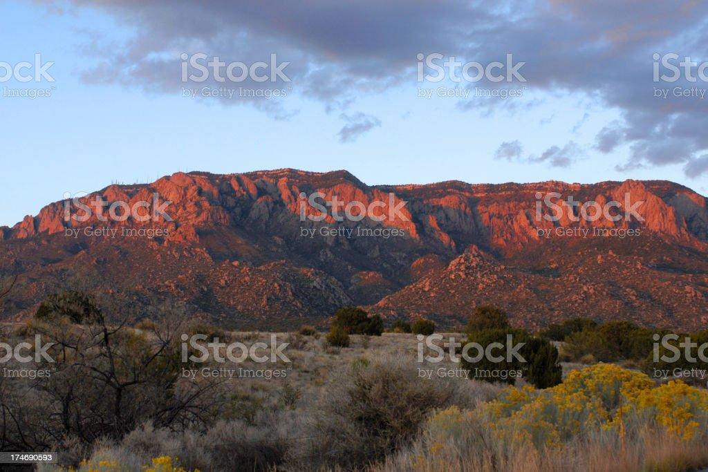 Sandia (Watermelon) Mountains stock photo