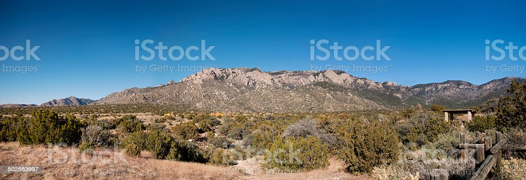 Sandia Peak in Albuquerque NM Panoramic royalty-free stock photo