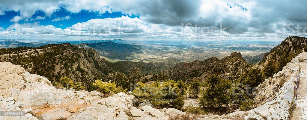 Sandia Peak Panorama Albuquerque stock photo