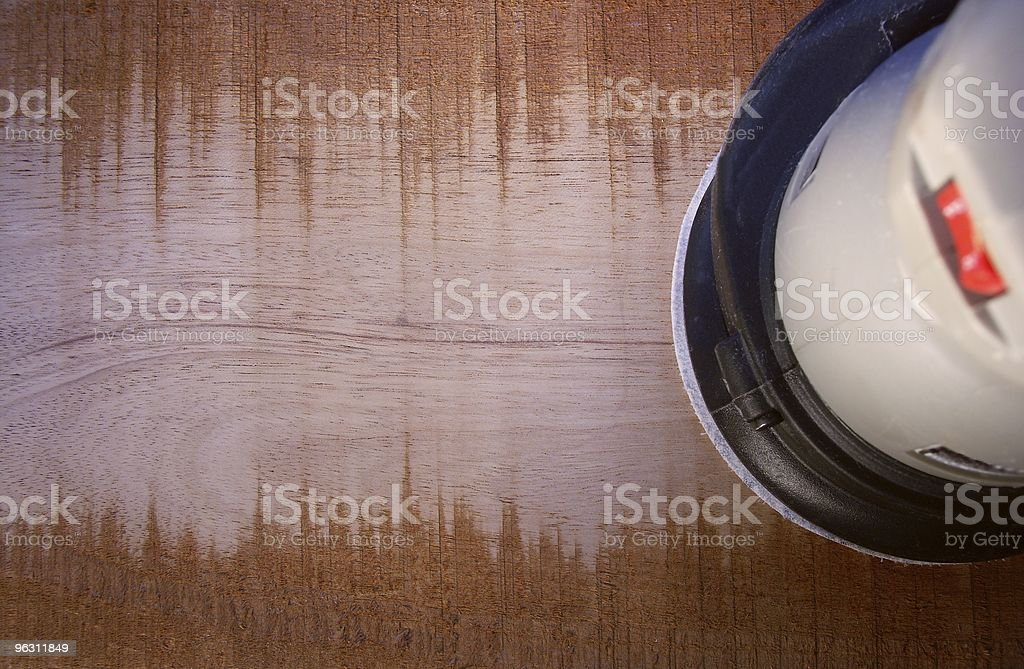 Sanding A Board royalty-free stock photo