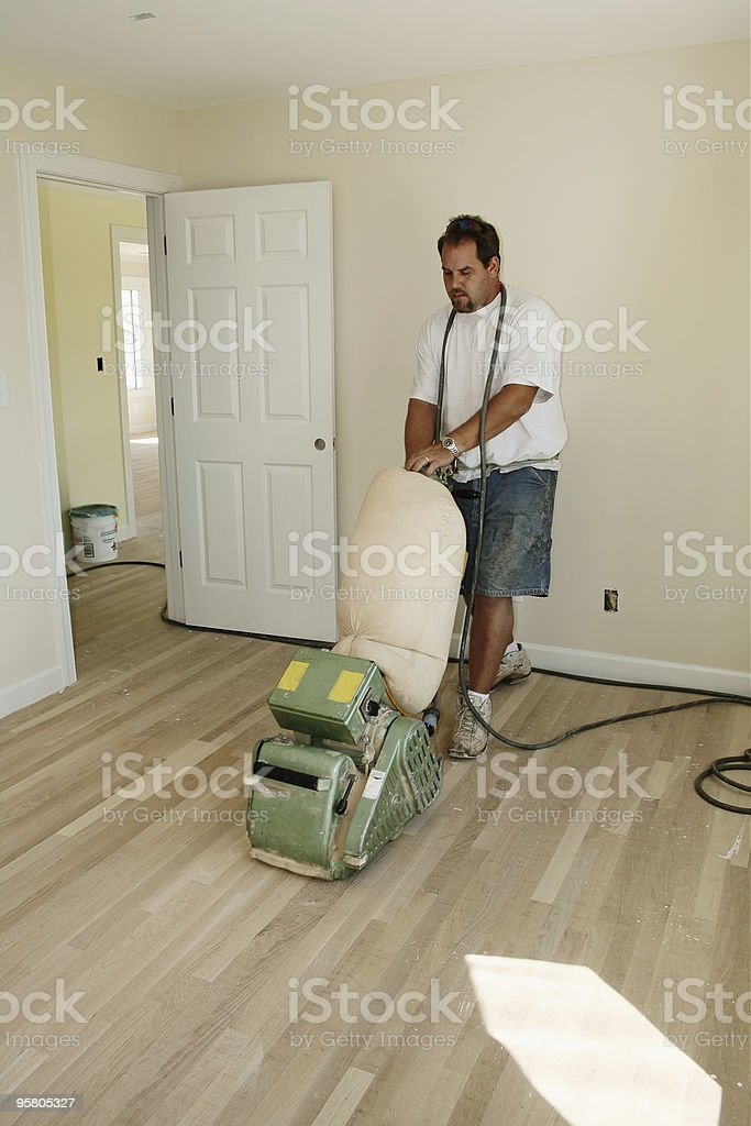 Sanding Floor I royalty-free stock photo