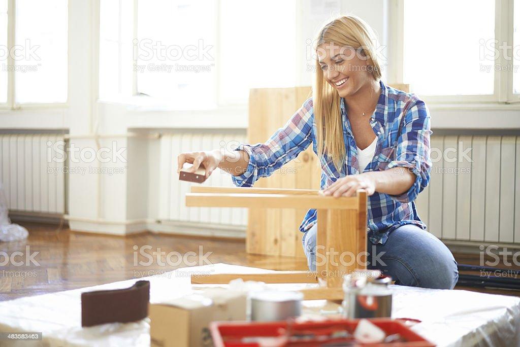 Abgeschmirgelten Möbel – Foto