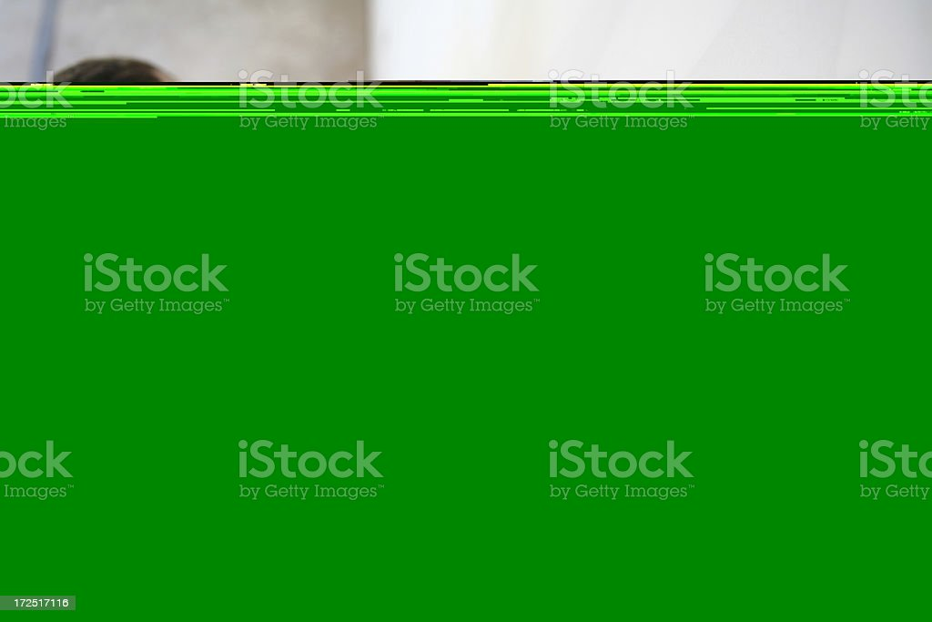 Sanding Wall for Paint royalty-free stock photo