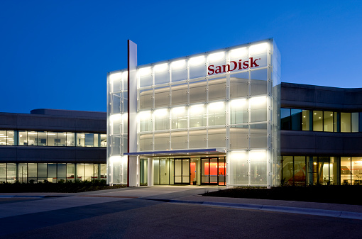 Sandisk Corporate Headquarters Silicon Valley California Stock Photo - Download Image Now