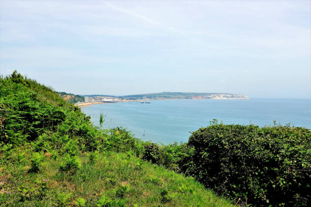 Sandown Bay, Shanklin, Isle of wight. stock photo
