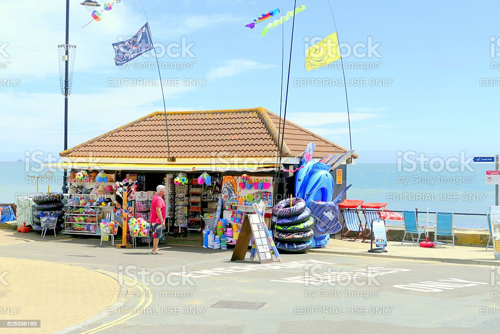 Sandown, Isle of Wight. stock photo