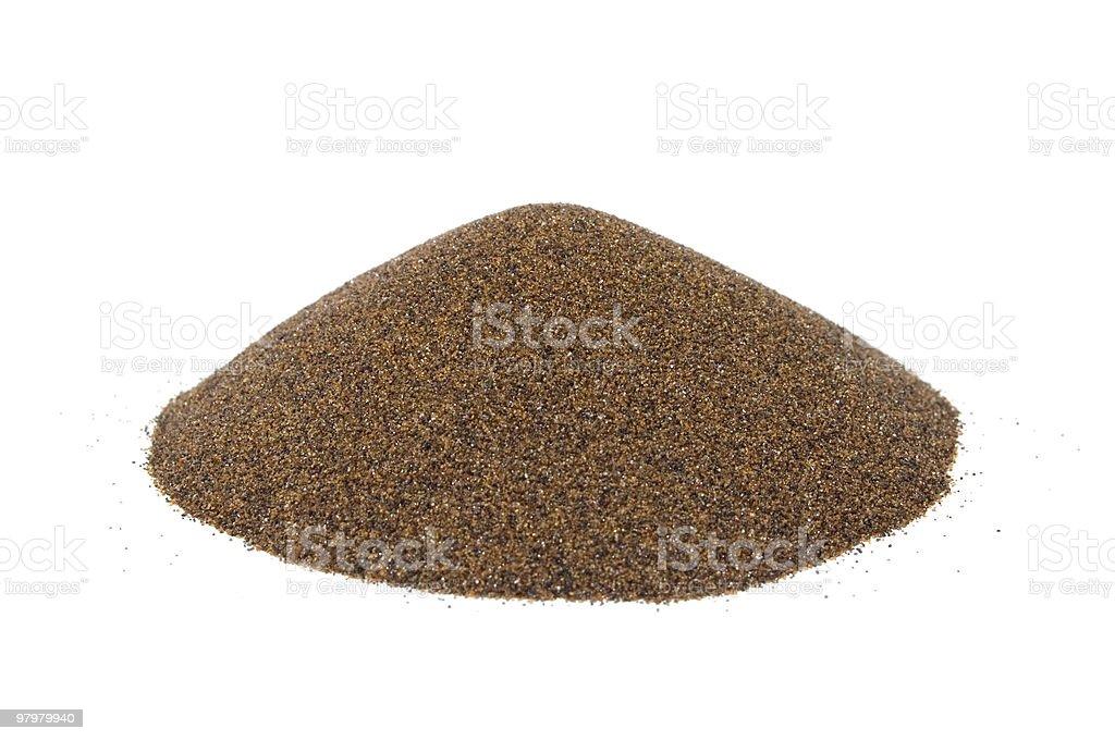 sand's cone - ore of mining industry royalty-free stock photo