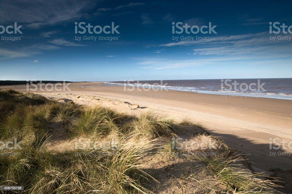 Sands Dunes at Holkham Beach stock photo