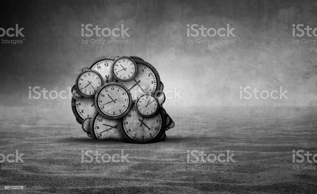 Zamanın kumları - Royalty-free Akıl hastalığı Stok görsel