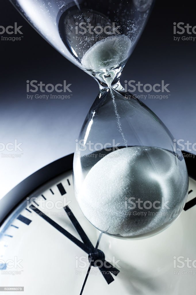 Sands of Time Slipping Away Horizontal stock photo