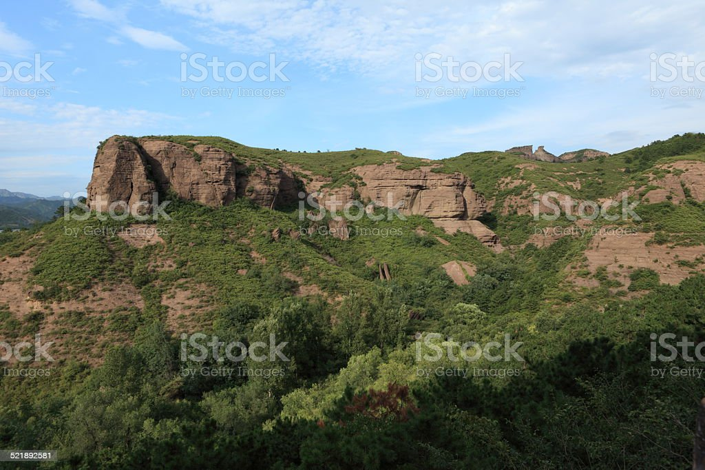 Sandsteinfelsen bei Chengde in China stock photo