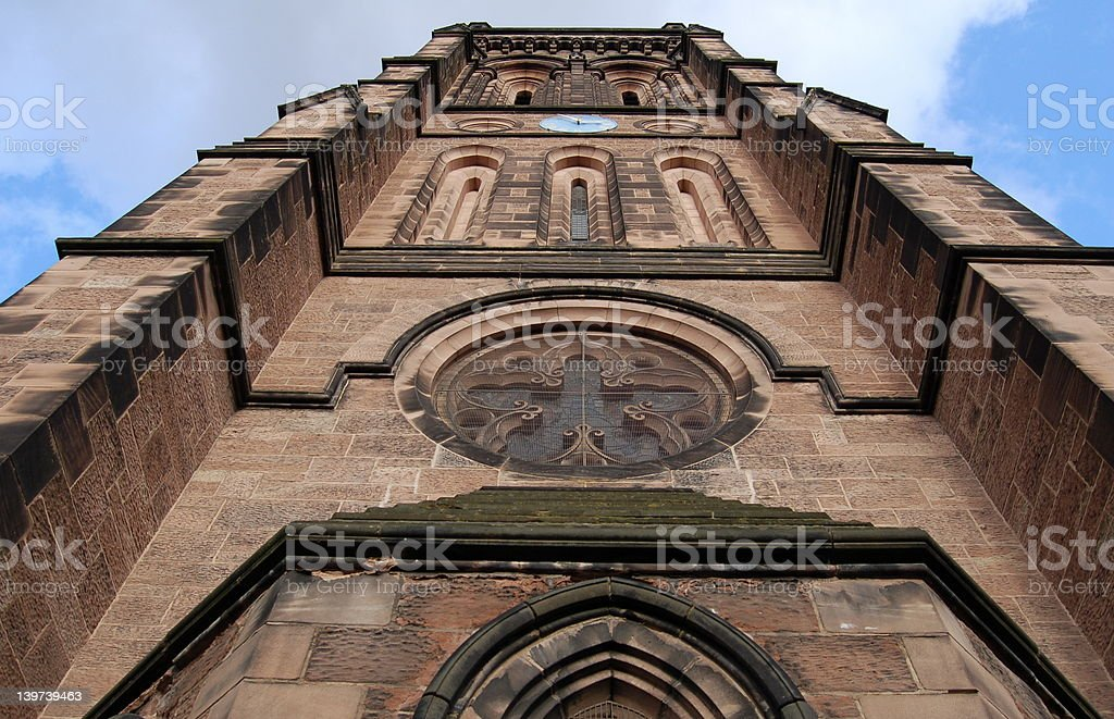 Sandstone Church Tower royalty-free stock photo