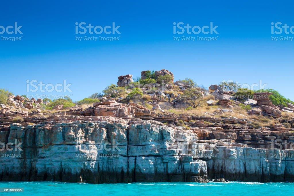 Sandstone Cliffs of the Kimberley, Australia stock photo