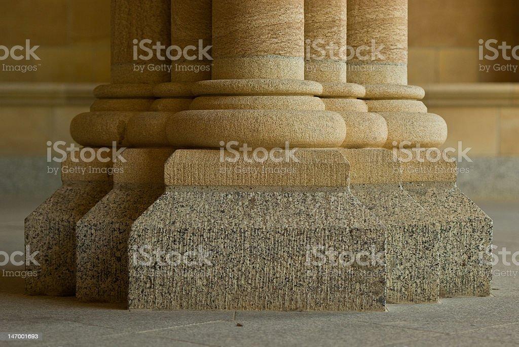 Sandstone Columns on Granite Bases stock photo