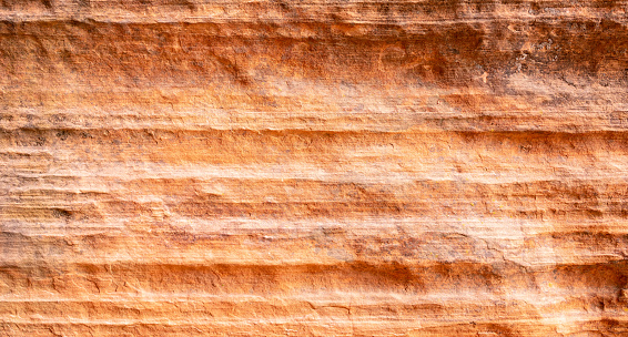 Eroded sandstone layers close-up.