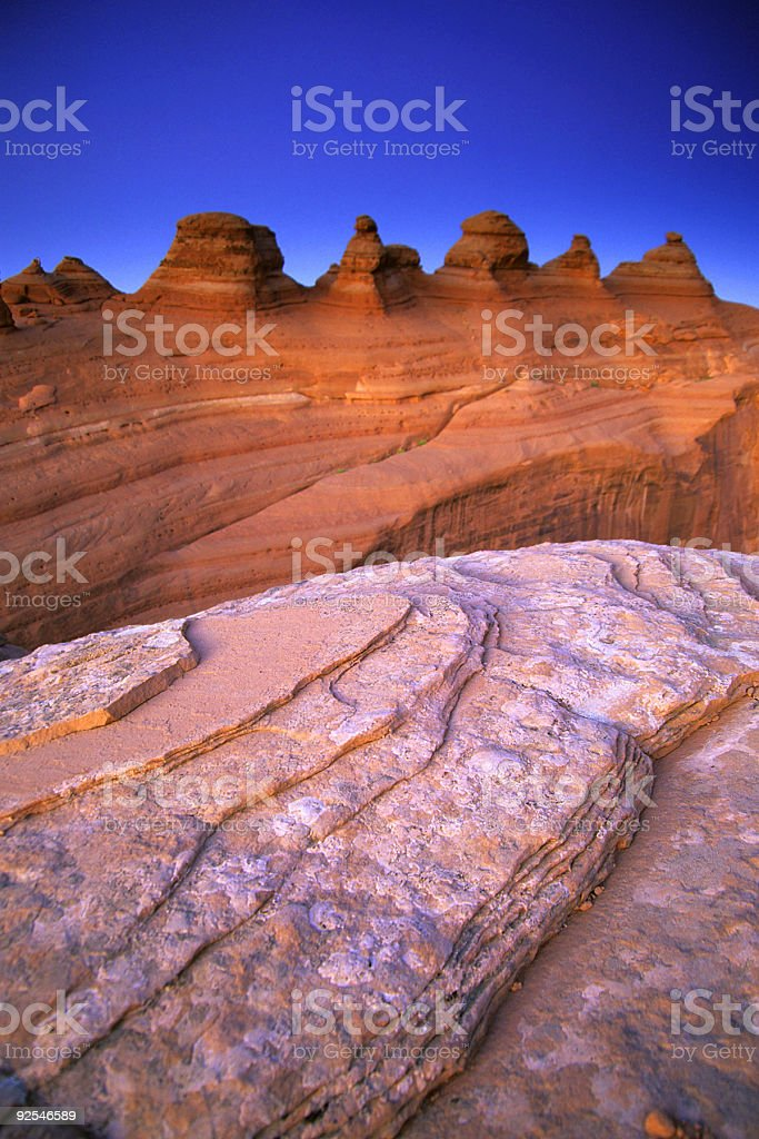 sandstone evening stock photo
